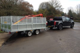 Fast tow forwarding trailer