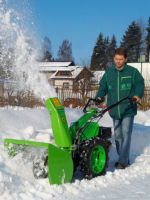 Castoro Super with rotary snow blower